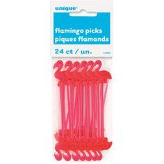 Unique Party Plastic Flamingo Cocktail Sticks 24 Count for sale online Flamingo Pool, Flamingo Decor, Flamingo Birthday, Flamingo Party, Pink Flamingos, Flamingo Craft, White Trash Bash, Luau Party Supplies, Cocktail Accessories