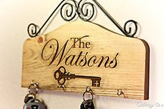 Key Holder Rack Family Name - Personalized Engraved House Warming Gift