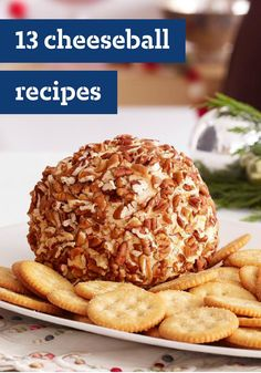 13 Cheeseball Recipes – Cheeseballs are one of the easiest cold appetizers to . - 13 Cheeseball Recipes – Cheeseballs are one of the easiest cold appetizers to prepare and are sur - Cold Appetizers, Finger Food Appetizers, Appetizers For Party, Appetizer Recipes, Snack Recipes, Cooking Recipes, Dinner Parties, Italian Appetizers, Christmas Appetizers