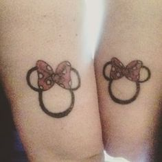 This magical Minnie pair. | 23 Geeky Couple Tattoos That Are Beyond Perfect