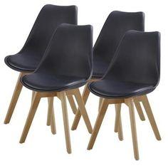 MACARON Chaise de salle  manger pieds bois hªtre massif