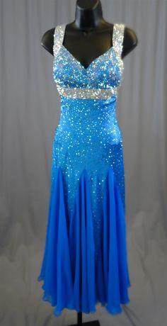 29299f26509 Sexy  amp  Elegant Electric Blue Ballroom Dress Ballroom Dresses For Sale