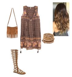 """""""Simple Boho Outfit"""" by britt897-1 on Polyvore featuring Spell & the Gypsy Collective and Chan Luu"""