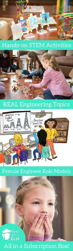 Real engineering topics, activities and books girls ages 6 to 12 will enjoy, and female engineer role models... all in a subscription box! Learn more about the startup company founded by female mechanical engineering students. Empowering girls to develop into our world's problem solvers. #TLAGengineer @engineeringkits