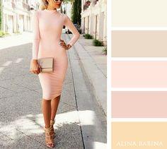 NEUTRALS: Cream, Beige || ACCENTS: Light Pink, Light Rose, Light Golden Yellow