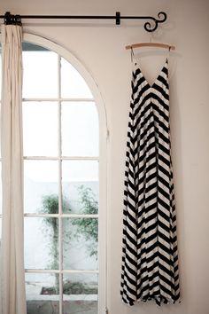 striped maxi dress - so pretty