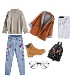 """""""This is an winter outfit FOR a School day #winteriscoming🍂❄️"""" by andreeaberecz on Polyvore featuring Timberland and Urban Expressions"""
