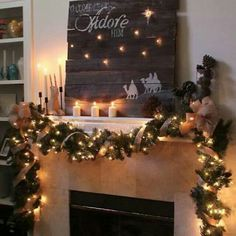 Cute rustic mantle decorations