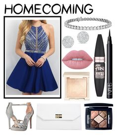"""""""Untitled #249"""" by blushygal ❤ liked on Polyvore featuring Blush, Badgley Mischka, Blue Nile, Anne Sisteron, Boohoo, Lime Crime, Jouer, Christian Dior, NARS Cosmetics and Maybelline"""