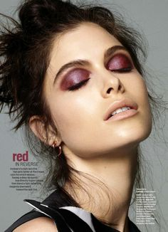 dark burgundy ombre eye makeup