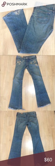 Red Engine Jeans Great condition with wear on the leg cuffs. Red Engine Jeans Flare & Wide Leg