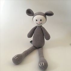 Knuffel Muffie -  Muffie & Snuffie - knuffel - gehaakt - veiligheidsoogjes - handgemaakt - baby - zwanger - kraamkado