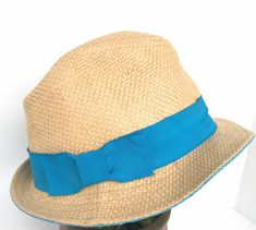 09ec7c4126b Fedora Womens Hat Paper Decoration Teal Band Ribbon Bow  Unbranded  Fedora   Any Bucket