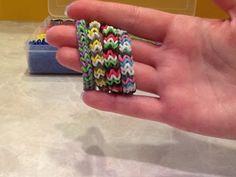 Easy Chevron Rainbow Loom Rubber Band Bracelet - YouTube