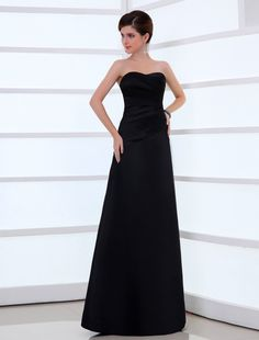 Wishesbridal Black Pleated Strapless Floor Length A Line Evening Prom Dress Affordable Evening Gowns, Affordable Prom Dresses, Evening Dresses Online, Cheap Prom Dresses, Casual Dresses, Formal Dresses, Wedding Dresses, A Line Evening Dress