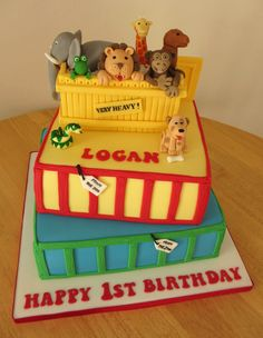 Dear Zoo cake