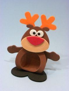 Porta bombom bichinhos natalinos Christmas Favors, Christmas Decorations To Make, Christmas Projects, Kids Christmas, Christmas Ornaments, Kids Crafts, Foam Crafts, Diy And Crafts, Candy Art