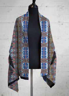 Multi-Wear Wrap - Nubian Dream in Rainbow by VIDA Original Artist Signature Design, Fashion Labels, Personal Style, Kimono Top, Meet, Rainbow, Weather, Sun, Warm