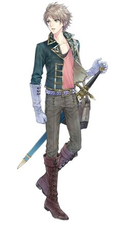 Blonde anime guy with sword.