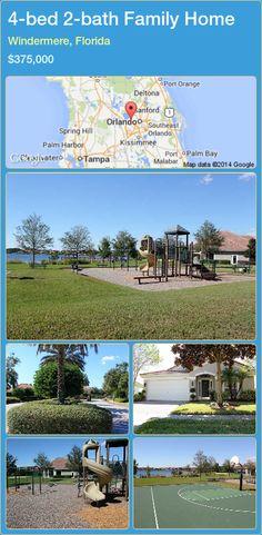 4-bed 2-bath Family Home in Windermere, Florida ►$375,000 #PropertyForSaleFlorida http://florida-magic.com/properties/69553-family-home-for-sale-in-windermere-florida-with-4-bedroom-2-bathroom