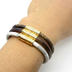 L V Monogram leather bracelet Monogram leather bracelet Louis Vuitton Jewelry Bracelets