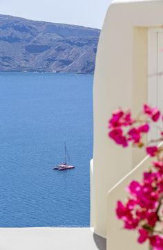 View over the Santorini volcano from Canaves Oia Hotel & Suites http://www.mediteranique.com/hotels-greece/santorini/canaves-oia-hotel-suites/