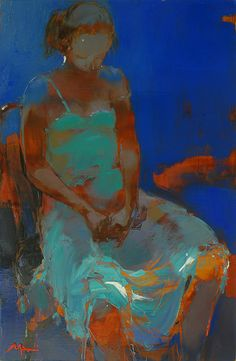 Alina Maksimenko Paintings, Art, Oil on canvas, Postimpressionism. My Darling is Dreaming - great color