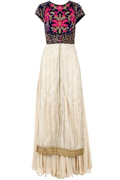 J By Jannat Offwhite antique work kurta set available only at Pernia's Pop-Up Shop.