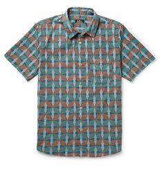 A.P.C. Slim-Fit Printed Cotton Shirt | MR PORTER