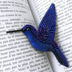 Your place to buy and sell all things handmade Seed Bead Crafts, Seed Bead Jewelry, Bead Embroidery Jewelry, Beaded Embroidery, Beaded Necklace Patterns, Embroidered Bird, Beaded Animals, Beaded Brooch, Brooches Handmade
