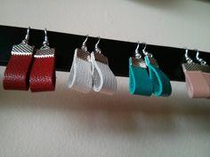 Pendientes de cuero - leather earrings
