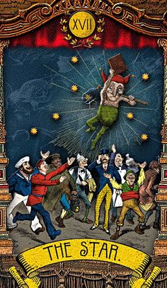 The Tarot of Mister Punch: You Are My Shining Star - If you love Tarot, visit me at www.WhiteRabbitTarot.com