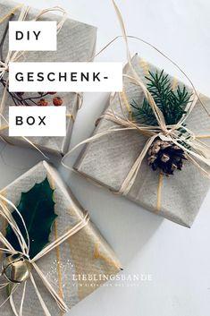 Einfach geflatete Geschenkboxen aus Papier. Eine Schritt- für Schritt Anleitung für Kleine und Grosse