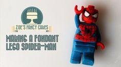 Making a fondant lego spider-man
