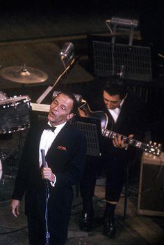 Frank Sinatra onstage at Royal Festival Hall, 1962
