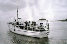 The Congdon family owned this 55 foot yacht, named the Hesperia. Photo from around 1910. The yacht did not stick around for long, it had burnt down due to a refueling accident