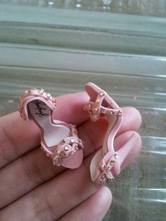 Too pretty // handmade miniature shoes with rhinestones by YinyingO on Etsy, $38.00