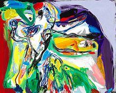 """Asger Jorn : """"La Joie d'etre"""" - Glæden ved at være 1969, olie på lærred, 81x100."""