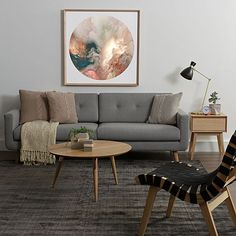 With low dimensions and generous seat depth, the '70s inspired Larsen 3 Seater Sofa, Light Grey from Zanui allows you to lounge in superb comfort and nostalgic style.