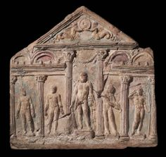 Relief depicting a palaestra (gymnasium) scene, Roman, Imperial Period, century CE. Roman Artifacts, Ancient Artifacts, Carthage, Ancient Rome, Ancient Greece, Roman History, Art History, Art Romain, Roman Sculpture