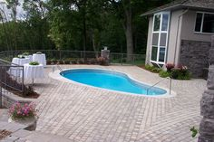 Reeds Lakeside Pool - Landscape designed and installed by Rosemont Nursery