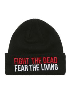 5b074e3fa02 The Walking Dead Fight The Dead Watchman Beanie from Hot Topic