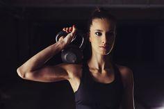 Use kettlebells to lose underarm flab.