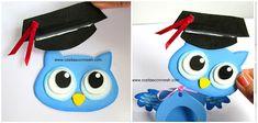 Souvenirs de buhitos en foami para fiesta de graduación ~ cositasconmesh