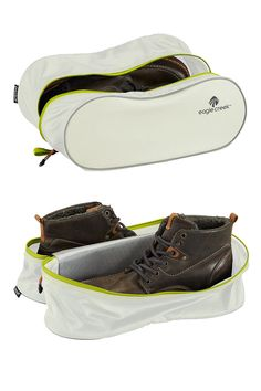 This water repellent Specter Tech Shoe Cube protects your travel pack from one wet, muddy pair of mid-cut hiking boots. Packing Cubes, Packing Tips, Travel Packing, Eagle Creek Pack It, Field Notes, Travel Items, How To Run Faster, Backpacker, Hiking Boots