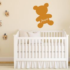 Teddy bear with name Bedroom Red, Girls Bedroom, Bedroom Decor, Childrens Bedroom, Teddy Bear Names, Cute Teddy Bears, Monogram Wall Decals, Teenage Girl Bedrooms, Cleaning Walls