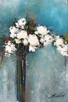 Abst y flores – Artofit Hydrangea Painting, Oil Painting Flowers, Abstract Flowers, Colorful Abstract Art, Acrylic Flowers, Floral Paintings, Oil Paintings, Oil Pastel Colours, Art Oil