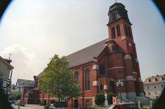 "St. John's Roman Catholic Church, Federal Hill, Providence, RI. Inspiration for the Starry Wisdom church in ""The Haunter in the Dark."""
