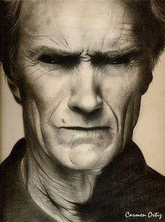 Clint Eastwood….Pencil art by Dumage