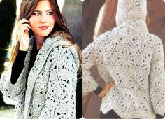 Chaqueta con Capucha Patron Crochet Home Decor, Easy Crochet Patterns, Crochet Clothes, Knitting, Lace, Tops, Women, Blog, Fashion